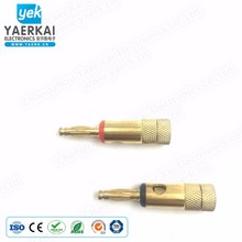 4mm using for audio&video gold plated copper male banana plug