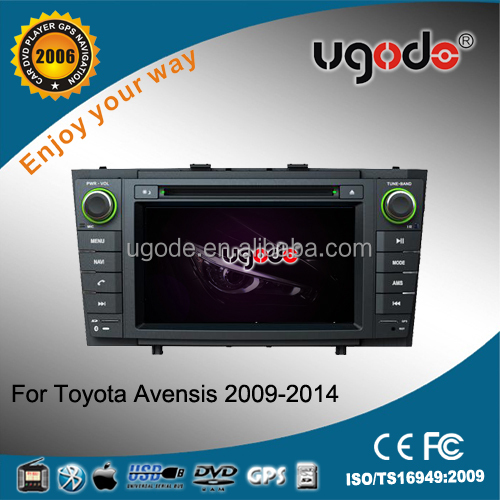 Factory OEM hot sale double din for Toyota Avensis car GPS