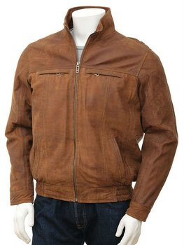Men's Tan Nubuck Jacket: