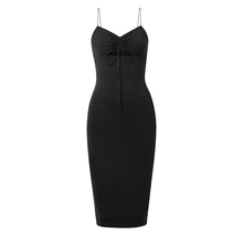 Women new fashion sleeveless sexy cut out bodycon long prom midi Dress 2018