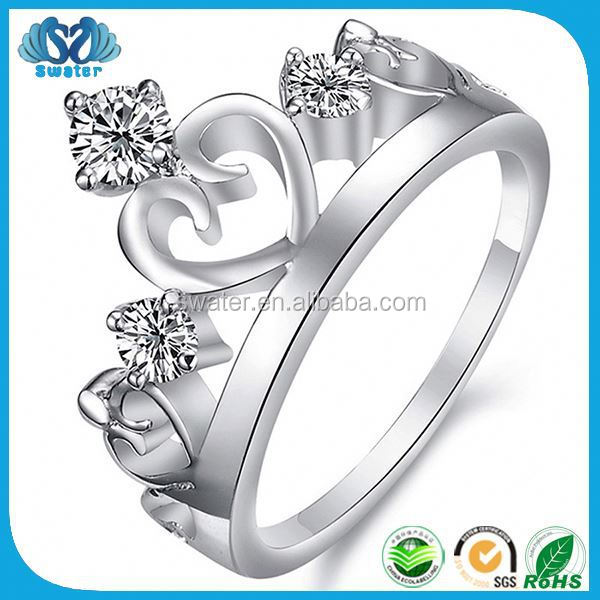 Best Quality White Gold Plated Ring Princess Accessories Jewelry