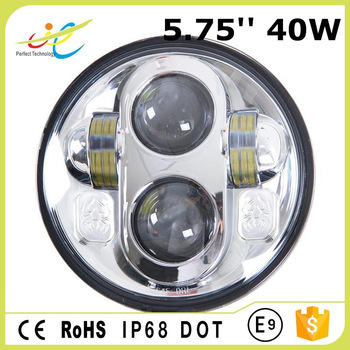 40w 5.75'' led head lamp for harley motorcycles with dot certification