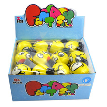 PU smiley face ball elastic strap emoji toy ball yellow toy ball with Rope
