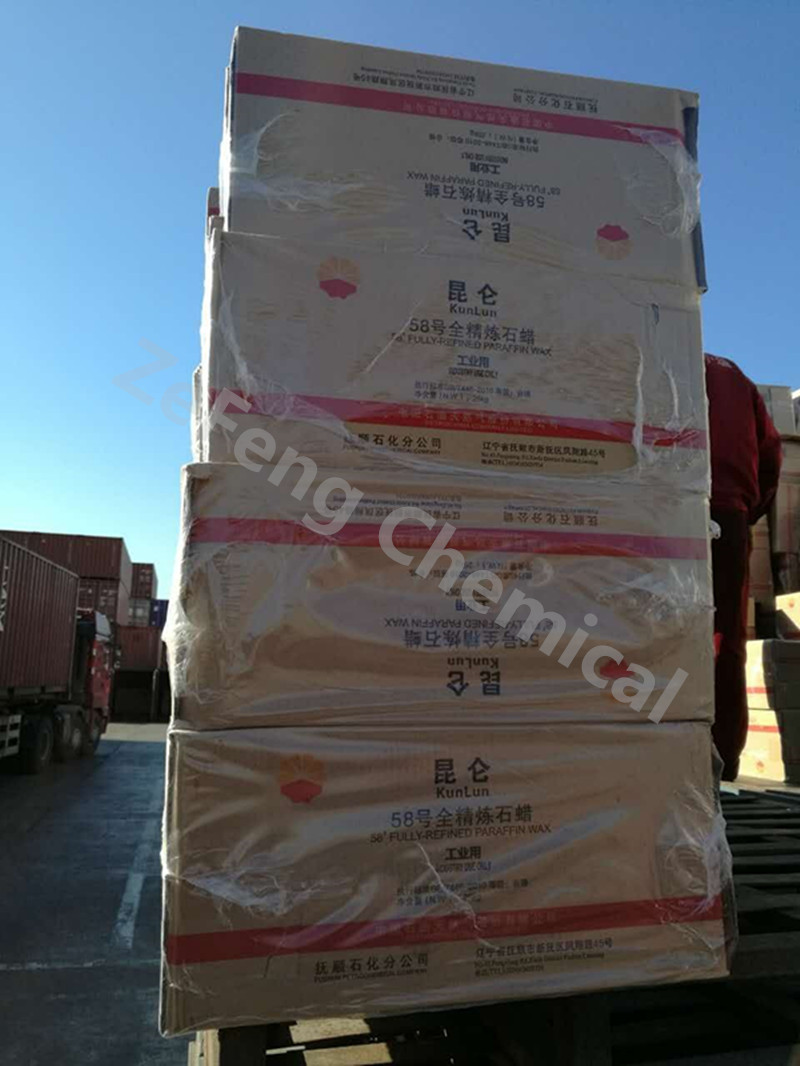 2017 Kunlun brand Fully semi Refined Paraffin Wax 58-60