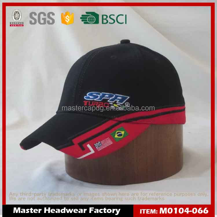 metal plate logo embroidery logo fitted snapback hat