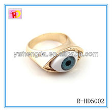 New design india jewelry fashion gold plating evil eye ring
