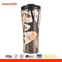 24oz Double Wall Insulated Plastic Travel Mug With Photo Insert