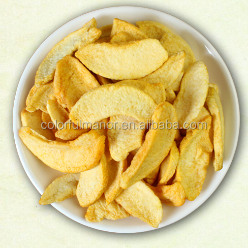 Origanic dried vegetable and fruit chips as side dish and dried peach