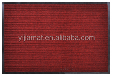 Double -ribbed thin striped PVC door mat