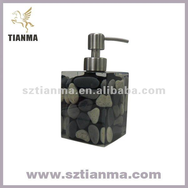 Natural Stone Bathroom Accessories/Stone Soap Lotion/Dispenser Factory