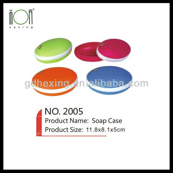 Travel Plastic Round Soap Holder Cases for Showers Design