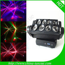 new 8pcs 10w rgbw 4in1 for spide led beam moving head light