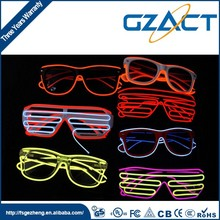 led party products el wire shutter shades glowing in the dark eye glasses