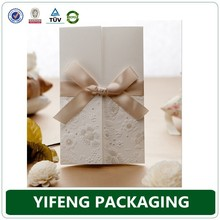 Guangzhou Yifeng custom logo paper english wedding invitation card