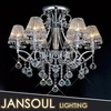 8 Lights Modern Ceiling Crystal Lights