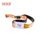 MD cheap passive woven fabric 1443a nfc 13.56mhz rfid wristband