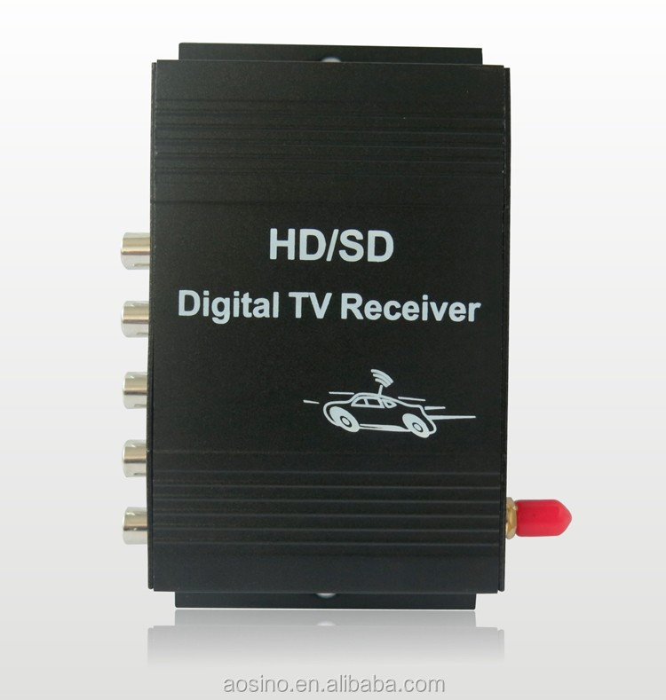 HD CAR ISDB-T 1 seg Digital TV receiver box with 4 video output TV set top box
