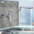 High Quality Retractable Faucet In Wall Mounted Hot Cold Water Faucet