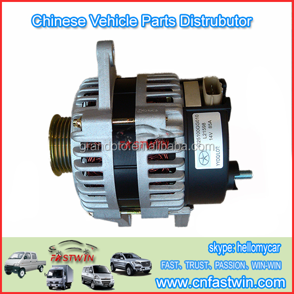 High Quality Auto Spare Parts Car JAC 1025100GG010 Alternator For Aftermarket Repair