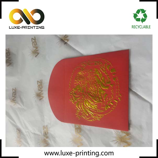 Hot stamping Red packet envelopes Custom paper envelope printing wholesale blank greeting card and wedding cards