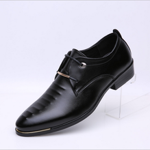 W10541G 2016 men black leather shoes fashion dress shoes for mens