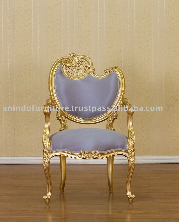 French Furniture - Gold Gilt Gull Chair 1 Seater Left