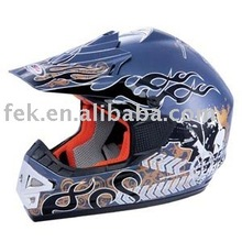 cross helmet with attactive decal