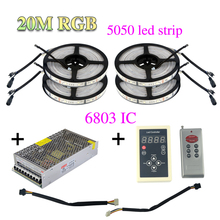 RGB LED Strip Light 6803 IC 5050 IP67 Waterproof 30LED/m Magic Dream Color LED Flexible SMD Strip lights 20m/set