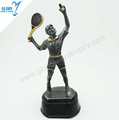 wholesale resin tennis trophy sculpture award for tennis competition match