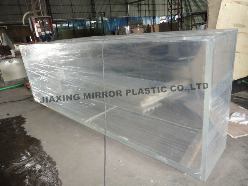 Front Round Corner Shape of Glass Aquarium
