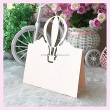 Laser cutting ballon design beautiful peach color wedding place card table name card place card holders for wedding