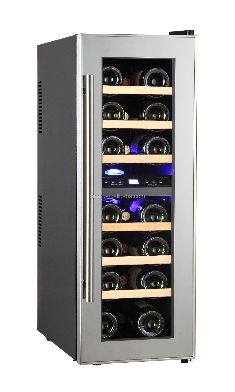 24 Bottle Dual Zone Thermoelectric Quiet Wine Refrigerator