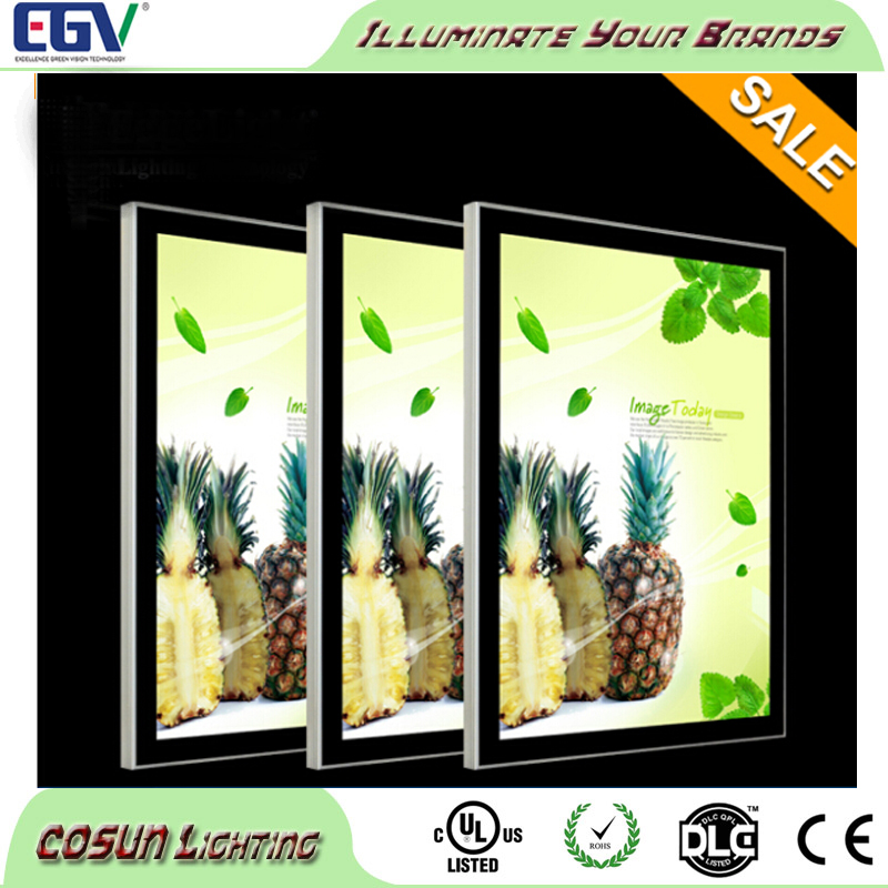 led slim poster frame light box, magnetic photo frame, photo-frame with led light inside
