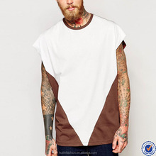 best selling products in america fashion mens t shirts crew neck contrast cap sleeve 100% cotton t shirt
