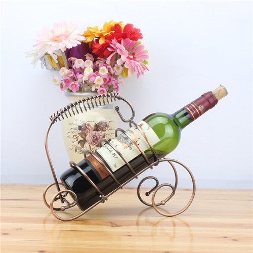 European Style High Quality Stainless Steel Creative Copper Wine Rack,Wine Shelf