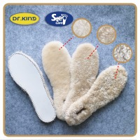 White warm comfort wool sheepskin insoles