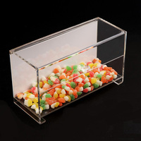 hot sale clear plexiglass food display case, acrylic candy case