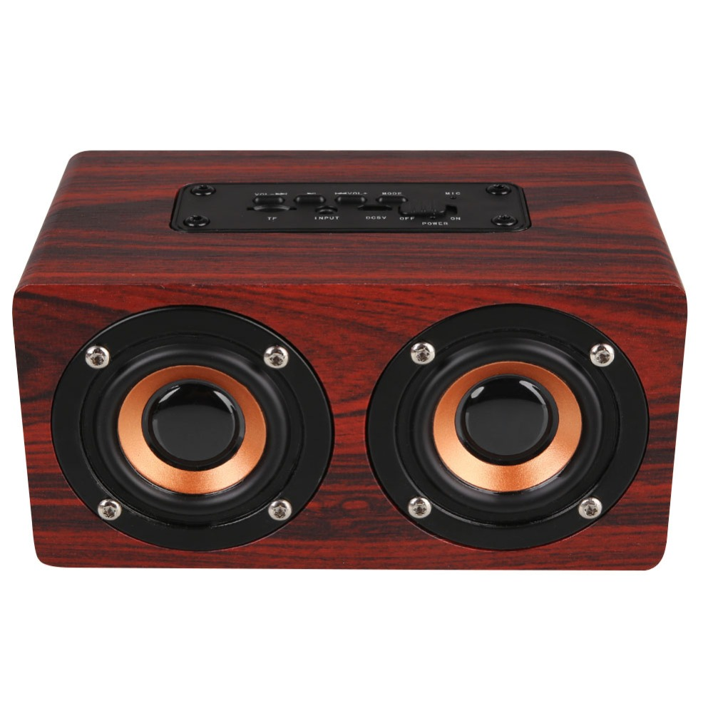 Portable mini Wireless Speakers Wooden Retro Wood Bluetooth Speaker Dual Loudspeaker Handsfree TF AUX For Cellphone freeshipping