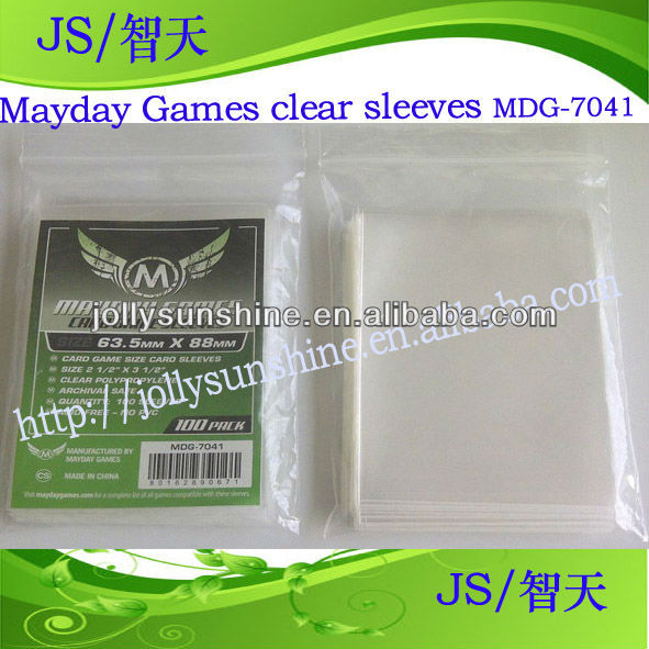 card sleeves mayday sleeves clear PP Card Game Sleeves MDG-7041, Dongguan factory