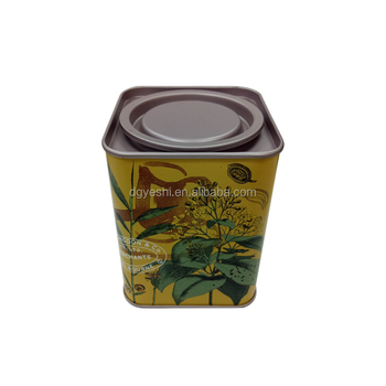 High Quality Sealed Square Metal Tea Coffee Packaging Tin Box