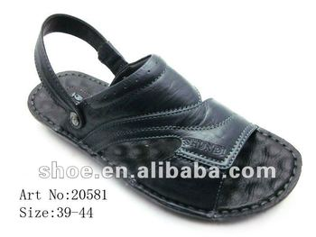 man leather slippers sandals