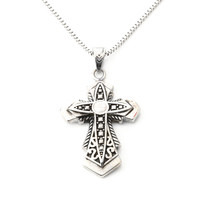 316 l stainless steel cross silver pendant man titanium steel necklace restoring ancient ways