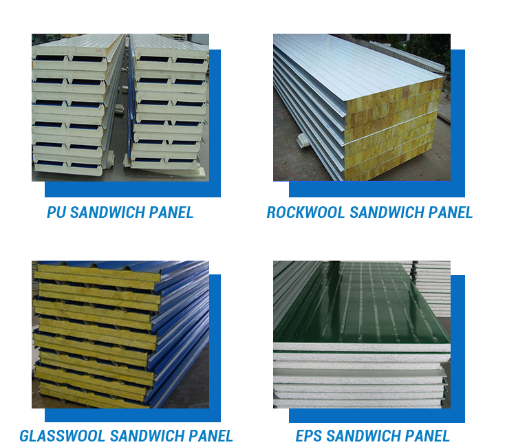 Customized Size Fire Rated Sandwich Panel Glass Wool Sandwich Panel