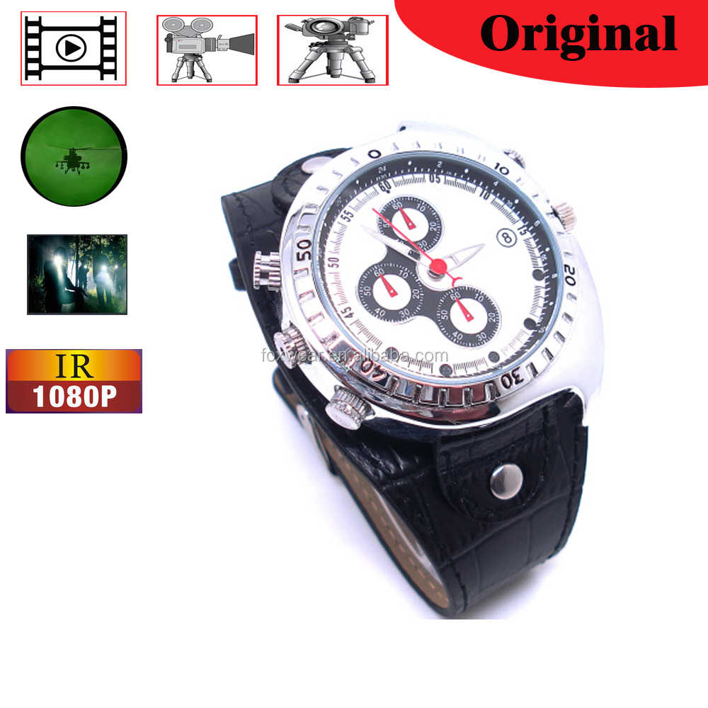16GB 1080P Motion Detect Video Record Watch Camera, with IR Night Vision Camera Watch Manual