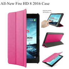 2016 version Ultra Slim Lightweight Tri-fold Smart Case for Amazon Fire HD 8 Tablet