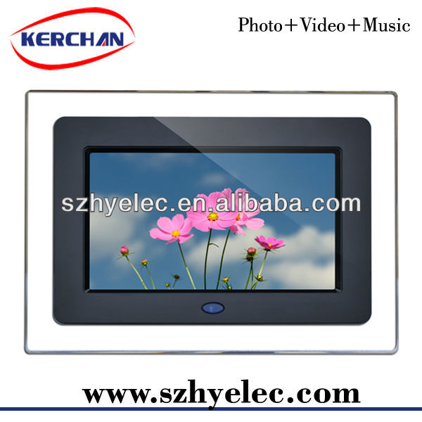 fancy 7 inch pictures of electronic appliances with usb driver DPF9706D