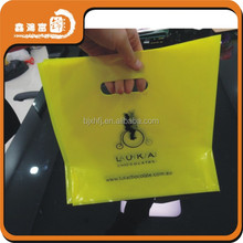 promotional custom made plastic bag die cut handle for shopping