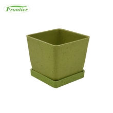 Biodegradable New Design Garden Bamboo Fiber Square Plant Pots