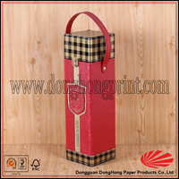 Red bag in box wine dispenser, leather wine tote bag for 2 bottle
