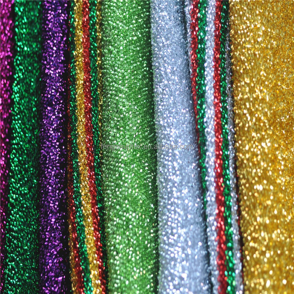 polyester metallic shiny lurex knitted fabric